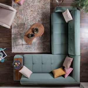 Orleon Corner Set + Wing Chair + FREE Aiwa TV 50″